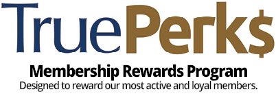 TruePerks Membership Rewards program logo.